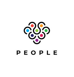 people community symbol logo design template vector image