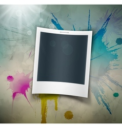 Photo on grunge background vector image