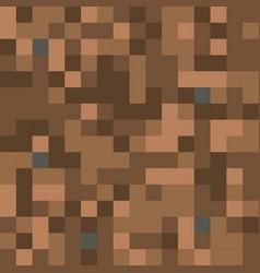 pixel minecraft style land block background vector image