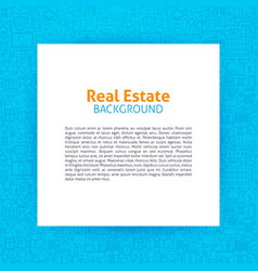 real estate paper template vector image