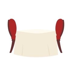 Restaurant table vector image