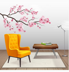 Sakura interior composition vector