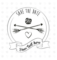 save the date invitation event decoration ornament vector image vector image