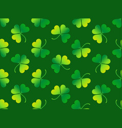 seamless pattern with clover leaves st patricks vector image