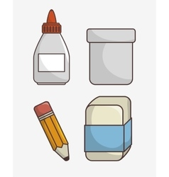 set of school supplies isolated icon design vector image