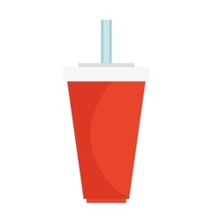 Soda drink isolated icon vector