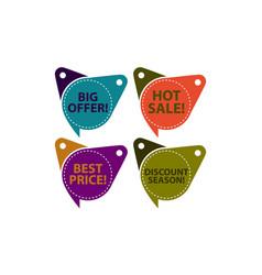 tag shop discount template set vector image