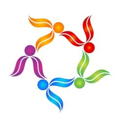 Teamwork people colorful logo vector