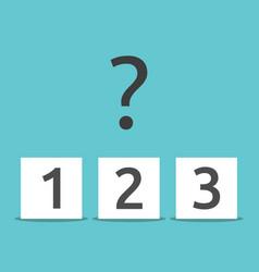 Three boxes choice concept vector