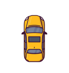 top view of modern car vector image