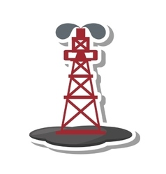 Tower oil exploration industry vector