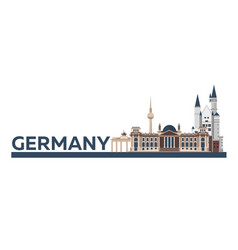 travel to germany berlin poster skyline vector image
