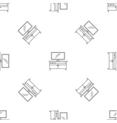 Tv home cinema pattern seamless vector
