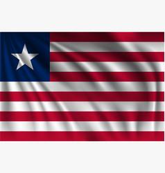 Waving liberia vector