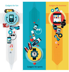 Wearable Technology Banners Vertical vector image