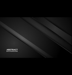 Webdark abstract background with black overlap vector