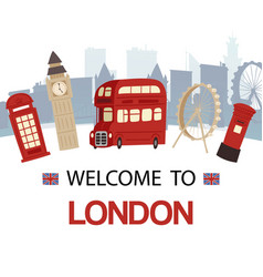 welcome to england banner vector image
