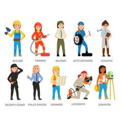 women hard working in mans job vector image