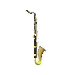 Bass Clarinet on white Background vector image vector image