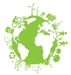 Green Planet Environment vector image
