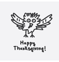 Happy Thanksgiving with Cartoon Turkey vector image