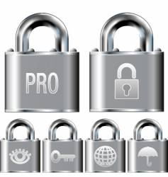 internet security professional icons vector image vector image