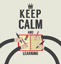 Keep Calm And Learning vector image