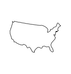 map of america black color icon vector image