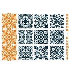 Ornamental openwork floral border patterns vector image vector image