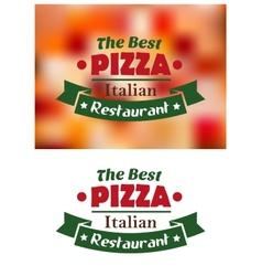 Italian pizza restaurant banner vector image vector image