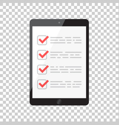 businessman checklist with tablet check list icon vector image vector image