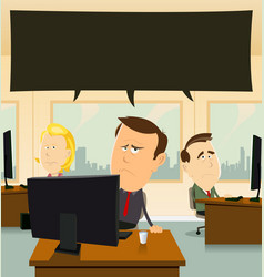 depression at the office vector image vector image