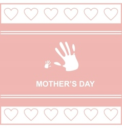 gift card on mothers day vector image vector image
