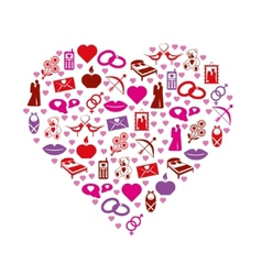 love icons in heart vector image vector image