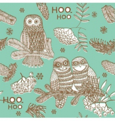 owls hooting vector image vector image