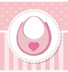 Bib of baby shower card design vector image vector image