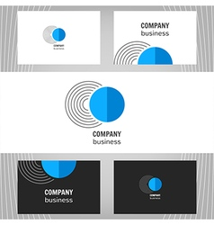 Business logo Round icon vector image vector image