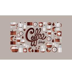 Coffee shop icons vector