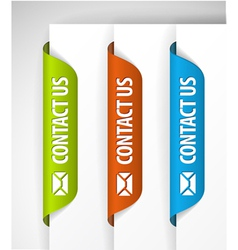 contact us labels vector image vector image