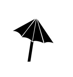 contour nice umbrella open to protect of sun vector image vector image