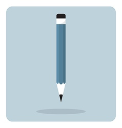 flat icon wooden pencil vector image vector image