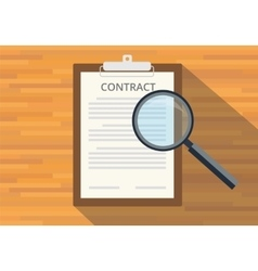 read full contract on clipboard vector image vector image
