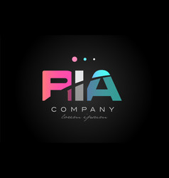 ria r i a three letter logo icon design vector image vector image