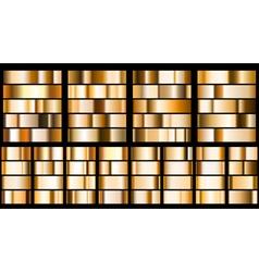 Set of metal gradients vector image