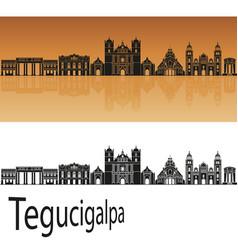 tegucigalpa skyline vector image vector image