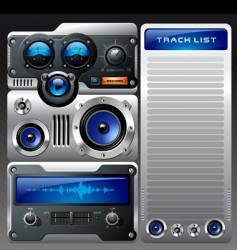 analog mp3 player vector image