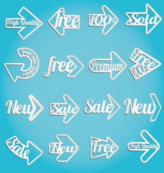 arrow sale labels vector image