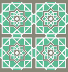 Asian geometric pattern vector