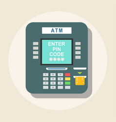 atm icon - payment terminal vector image