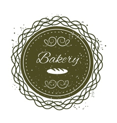 Bakery grunge badge label vector